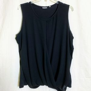 DKNYC Women's Sleeveless Mixed Media Blouse
